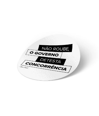 Adesivo Não Roube do Governo (6cm)