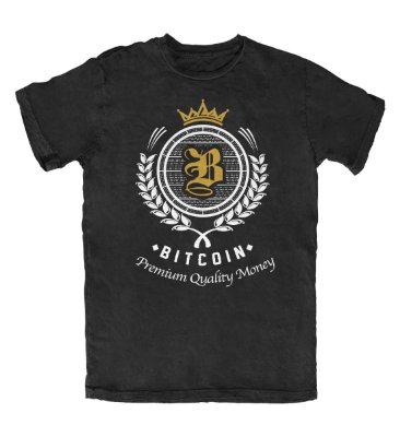 Camiseta Bitcoin Premium Quality Money Preta
