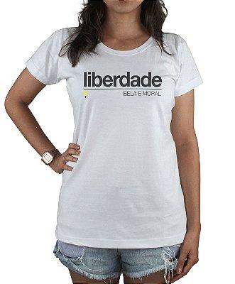 Babylook Liberdade Bela e Moral Branca