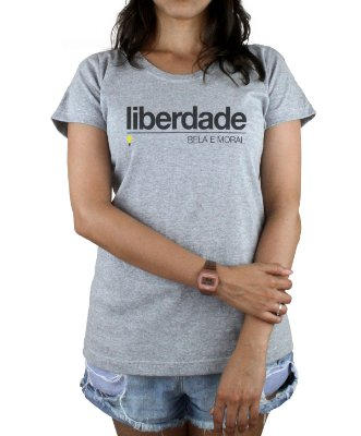 Babylook Liberdade Bela e Moral Mescla