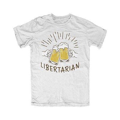 Camiseta Libertarian Cheers Branca
