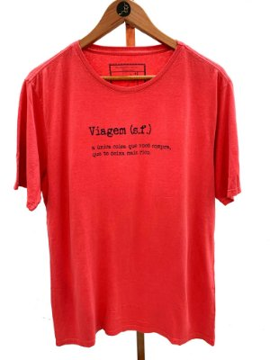 T-shirt Viagem vermelha