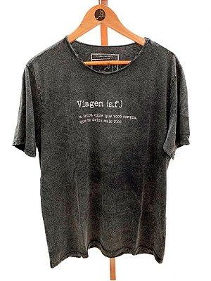 T-shirt Viagem gola à fio