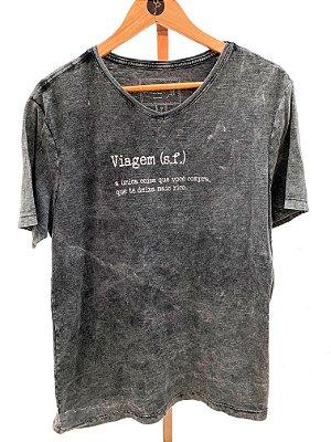 T-shirt Viagem gola V