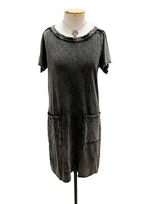 Vestido tranças marmo