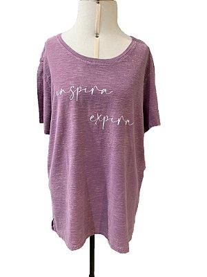 T-shirt feminina Inspira Expira (202)