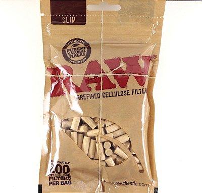 Filtro Raw de celulose slim com 200 unidades original.