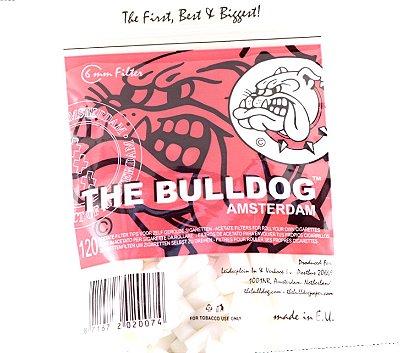 Filtros de acetato Bulldog amsterdam 6mm com 120 unidades.