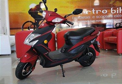 Bicicleta elétrica eb 021 1500w vermelha