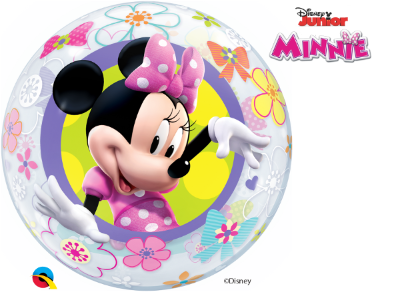 Balão Bubble Disney Minnie Mouse Bowtique