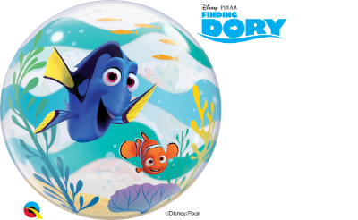 Balão Bubble Disney Pixar Nemo e Procurando Dory