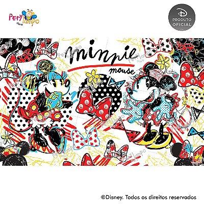 Painel sublimado em tecido Minnie Conceito - Tamanho 4,0m x 2,50m