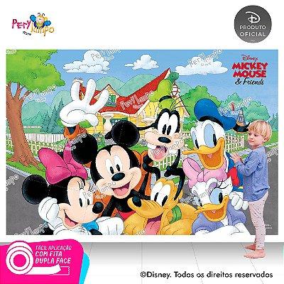 Painel sublimado em tecido Mickey e Amigos - Tamanho 2,20m x 1,45m