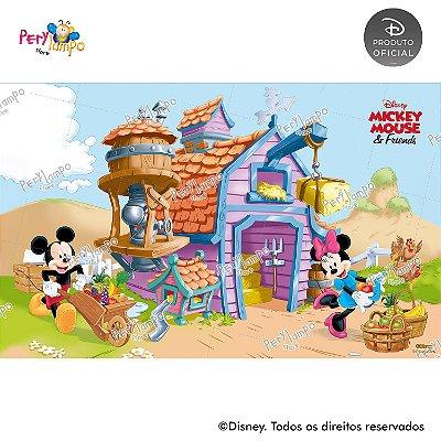 Painel sublimado em tecido Fazendinha do Mickey - Tamanho 4,0m x 2,50m