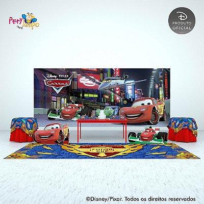 Painel festa Decorativo Carros - Pista Tókio - 7,0m x 3,0m