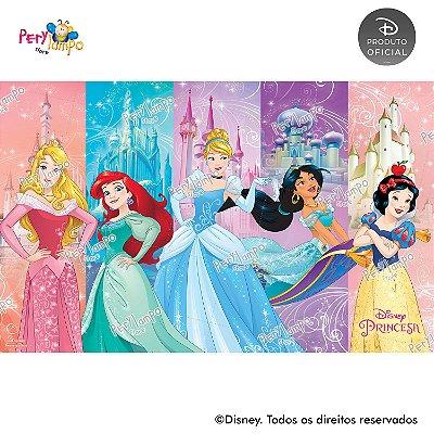 Painel sublimado em tecido Princesas Disney Empoderadas - Tamanho 4,0m x 2,50m