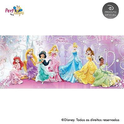 Painel sublimado em tecido Princesas Disney coleção Jóias - Tamanho 7,0m x 3,0m