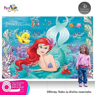Painel Decorativo Pequena Sereia- Ariel Peixes- 2,20mx1,45m