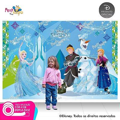 Painel festa Decorativo Frozen Blocos de Gelo - 2,20mx1,45m