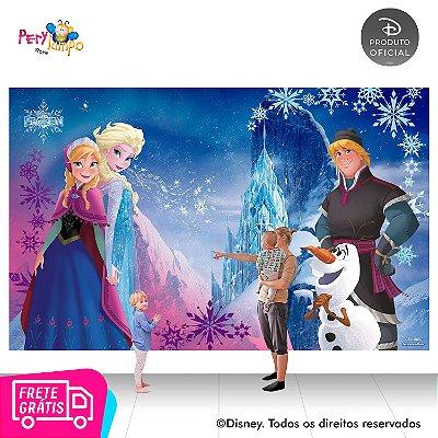 Painel de festa Decorativo - Frozen Rosa - 4,0m x 2,50m