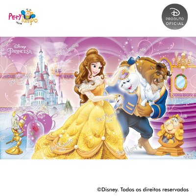 Painel Decorativo A Bela e a Fera - Movies - 4,0m x 2,50m