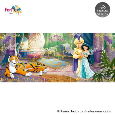 Painel Decorativo Aladdin - Jasmine - Quarto - 7,0m x 3,0m