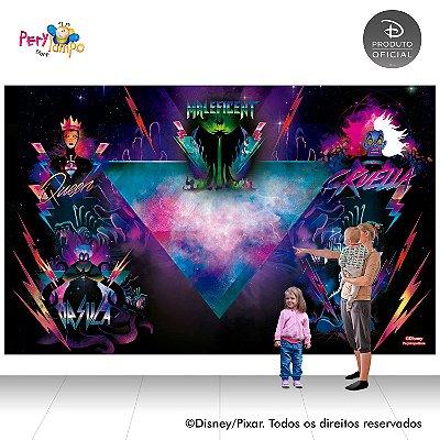 Painel de festa Decorativo - Vilões da Disney - 4,0m x 2,50m