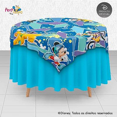 Toalha (Sobrepor) em tecido sublimado - Mickey Esportes - 1,40 x 1,40m