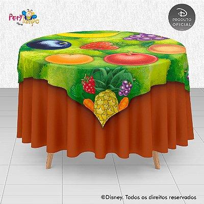 Toalha (Sobrepor) em tecido sublimado - Fazendinha do Mickey - 1,40 x 1,40m
