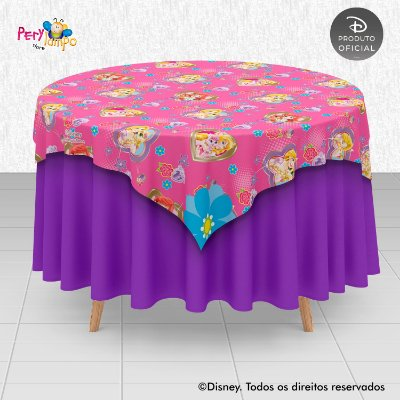 Toalha Mesa Sobrepor Cobre Mancha - Princesas Disney & Pets