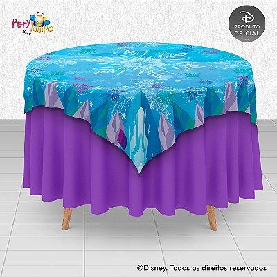 Toalha (Sobrepor) em tecido sublimado - Frozen - Blocos de Gelo - 1,40 x 1,40m