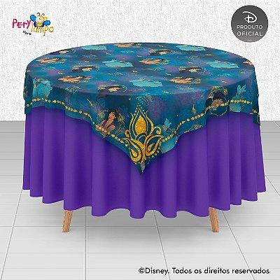 Toalha (Sobrepor) em tecido sublimado - Aladdin - Jasmine Tapete - 1,40 x 1,40m