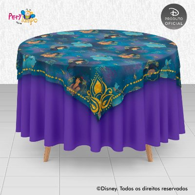 Toalha Mesa Sobrepor Cobre Mancha - Aladdin - Jasmine Tapete