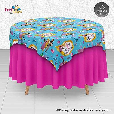 Toalha (Sobrepor) em tecido sublimado - Enrolados - Rapunzel Série - 1,40 x 1,40m