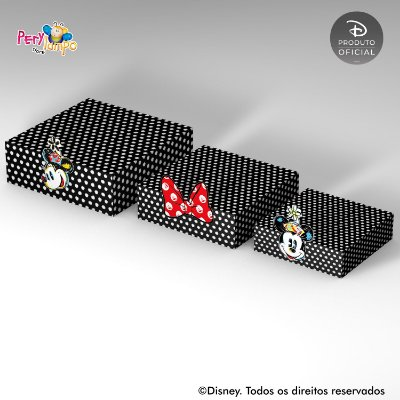 Kit Suportes Bandejas Decorativa - Minnie Conceito