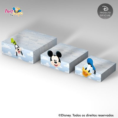 Kit Suportes Bandejas Decorativa - Mickey e Amigos
