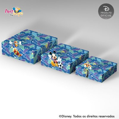 Kit Suportes Bandejas Decorativa - Mickey - Esportes