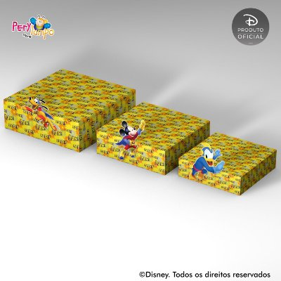 Kit Suportes Bandejas Decorativa - Mickey - Super Heróis