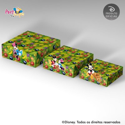 Kit Suportes Bandejas Decorativa - Fazendinha do Mickey