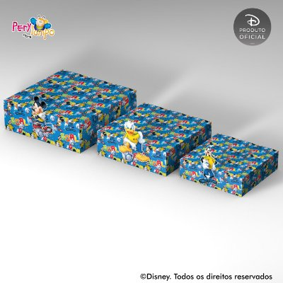 Kit Suportes Bandejas Decorativa - Mickey - Futebol
