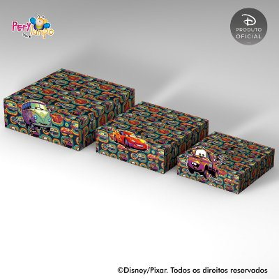 Kit Suportes Bandejas Decorativa - Carros - Deserto