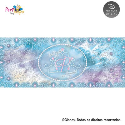 Lona fosca para piso - Princesas Disney coleção Jóias - 5,0 x 2,0m