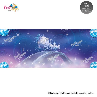 Lona Decorativa - Cinderela - Ratinhos - 5,0 x 2,0m