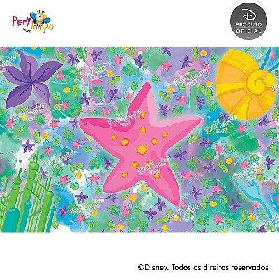 Lona Decorativa - Pequena Sereia - Ariel Aquarela - 3,0x2,0m