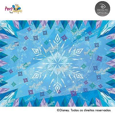Lona Decorativa - Frozen - Blocos de Gelo - 2,0 x 1,5m
