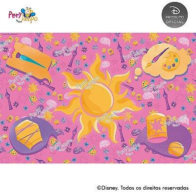 Lona Decorativa - Enrolados - Rapunzel - Aquarela -  3,0 x 2,0m