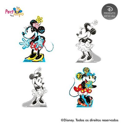 Kit 4 displays de mesa - Minnie - Conceito