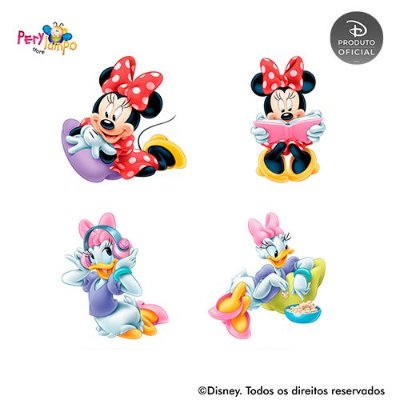 Kit 4 displays de mesa - Quarto da Minnie