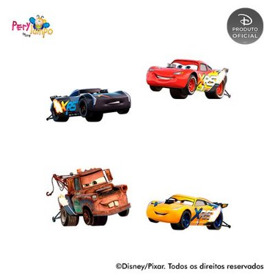 Kit 4 displays de mesa - Carros - Desenho