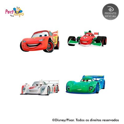 Kit 4 displays de mesa - Carros - Pista Tókio